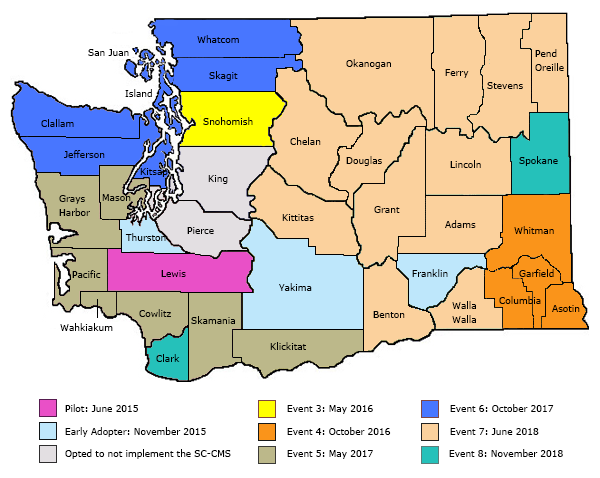 Washington State Courts SC-CMS Implementation Map